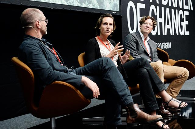 Marilyne Andersen, Christoph Reinhart discussing at 6th VELUX Daylight Symposium